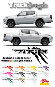 TITAN NAVARA Pick up TRUCK 4x4 VEHICLE GRAPHICS DECALS STICKERS x2 - 12 COLOURS
