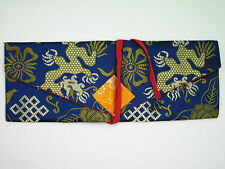 TRADITIONAL TIBETAN BUDDHIST LINED BROCADE PECHA DHARMA TEXT COVER WRAP CLOSURE