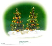 Department 56 1999 FROSTY LIGHT TREES 2 PIECE Village ACCESSORY #52844