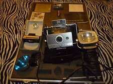 Vintage Polaroid Automatic 100 Camera With Accessories & Case