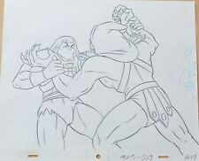 He-Man animation art - original production cel / drawing - HE-MAN & SKELETOR