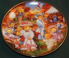 "Teddy Bear Outing 8"" Collector Plate Franklin Mint Carol Lawson,Mint"