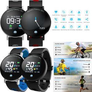 Bluetooth Sport Smart Watch Heart Rate Blood Pressure for Huawei LG Samsung Moto
