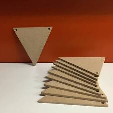 10 x Wooden MDF 4mm Bunting Triangles 10cm x 10cm ( NOT LASER)