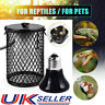 E27 Reptile Ceramic Heating Light Bulb Lamp Holder with Anti-hot Cage Switch UK