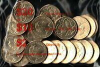 2019 Australia $1 JC, 20 coins in bank bag, UNC