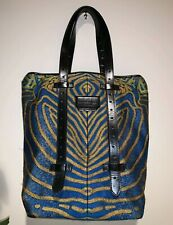 Proenza Schouler silk brocade shoulder bag leather fish print handbag tote