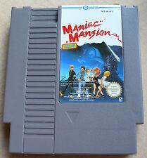 Nintendo NES: 'Maniac Mansion' (NES-JM-UKV) - Cartridge & Sleeve