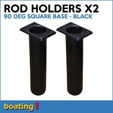 2 x ROD HOLDERS Plastic Rod Holder Flush Mount 90 deg Square Base Black