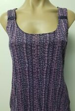 Ladies Tank Top Axcess Dark and Light Purple Polyester  Size S