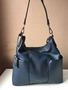 CLARKS Blue Faux Leather Shoulder Bag