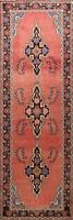 Antique Geometric Bakhtiari Hand-knotted Runner Rug Staircase Oriental Wool 4x10