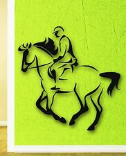 Wall Stickers Vinyl Decal Rider Horse Polo Equestrian Sports (ig282)
