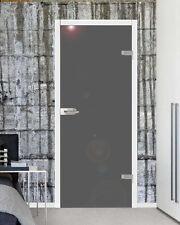 VSG Ganzglastür Glas Zimmer Tür Glastür +Beschlag hochglanz grau 834 x 1972 mm