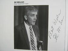 1987 SAMFORD Men's Basketball Guide(20 Signed/ED McLEAN(Died-2011/REMBERT MARTIN