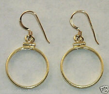 Coin Jewelry EARRING FINDINGS Cent,Dime, Nickel Coins Gold Filled Bezels Hooks
