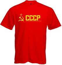 CCCP -Soviet- Russian - Hammer Sickle RED Retro Quality T-shirt