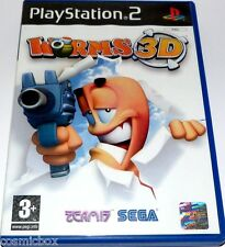 PlayStation 2 jeu video WORMS 3D sega stratégie console sony ps2 bon état