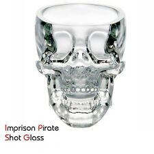 Crystal Skull Head Shot Glass x4, Whiskey Shot, Drinking Shot Glass, Wine Glass