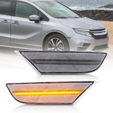 Clear Lens Amber Led Front Bumper Side Marker Light for 2018-up Honda Odyssey 2X