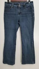 Sonoma Jeans Size 10 Petite  Boot Cut Medium Wash Embroidered Pockets Denim