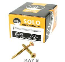 200 x CHIPBOARD SCREWS POZI COUNTERSUNK YELLOW ZINC WOOD SCREW 3mm 4mm 5mm 6mm