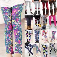 Baby Kids Girls Leggings Full Length Skinny Pencil Pants Trousers for Age 2-12