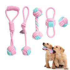 Aggressive Chew Toys for Dogs Interactive Cotton Rope Pet Tug Ball Teeth Clean