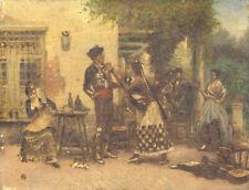 19th Century Lithograph - Spanish Scene