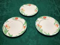 """3 pcs Franciscan authentic hand crafted tulip dinner plates England 10.5"""""""