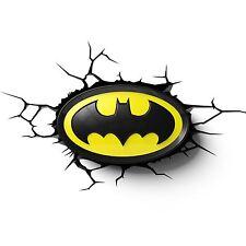 LOGO DI BATMAN 3D PARETE LED LUCE NOTTURNA UFFICIALE CAMERA DA LETTO RAGAZZI