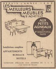 Z9264 Meubles Aux Petits Agneaux -  Pubblicità d'epoca - 1932 Old advertising