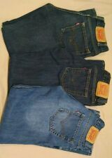 3 pair of Levi's 505 regular fit straight jeans Boy's size 12 Regular 26W 26L