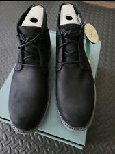 Toms Navi Boots Black Distressed Leather Suede Size 13 new