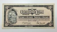 1974 Canadian Tire 10 Ten Cents CTC-S4-C-GN Circulated Money Banknote E146