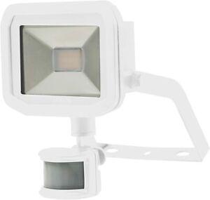 22W White Luceco Guardian Slim Flood Light with PIR Motion Sensor & 1M Cable