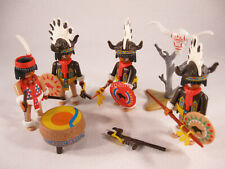 PLAYMOBIL VINTAGE 3732 INDIAN WAR PARTY BUFFALO DANCERS-COMPLETE-EXCELLENT!!