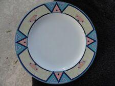 Christopher Stuart Montero Green Blue Beige Southwest Designs White Dinner Plate