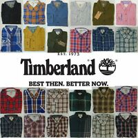 Mens TIMBERLAND Check Collared Shirt Work lumberjack Long Sleeve NEW RRP 70