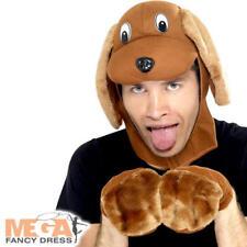 Dog Fancy Dress Sombrero Kit Para Hombre Damas Libro Mascota Cachorro Animal Disfraz Adulto Kit Nuevo