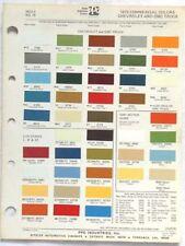 1975 CHEVROLET GMC TRUCK PPG COLOR PAINT CHIP CHART ALL MODELS ORIGINAL