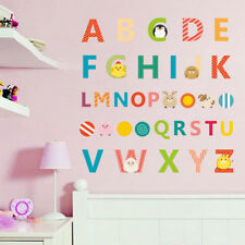 Alphabet ABC Letters Kids Removable Wall Stickers Nursery Decal Vinyl Decor