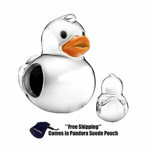 Authentic Pandora Sterling Silver Charm 799554C01 Polished Rubber Duck