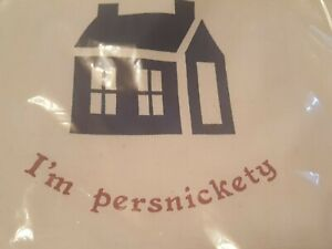 I'm Persnickity Apron ~Woodchips Designers Inc Vineyard Haven Mass