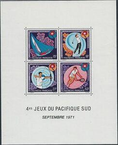 POLYNESIE - BF N° 2 // 1 bloc feuillet Neuf** // 1971 // SPORT