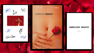 American Beauty Script/Screenplay & Movie Poster And Autographs Signed Print