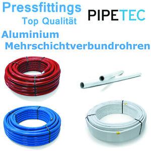 Aluminium Mehrschichtverbundrohr Pipetec DVGW Pressfitting Verbundrohr