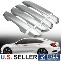 For 2016-2021 Honda Civic Chrome Door Handle Covers W/O Smartkey Hole