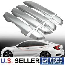 For 2016 2017 2018 2019 Honda Civic Chrome Door Handle Covers W/O Smartkey Hole