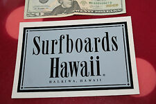 Vintage Surfing Sticker Surfboards Hawaii Dick Brewer Grey/Black Logo. Decal Oop